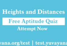 Free Aptitude quiz   Heights and Distance