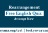 Free English Quiz, Rearrangement Free english quiz